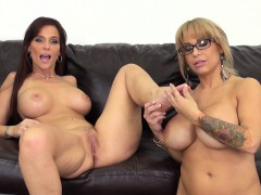 alyssa and syren exploring their intense lesbian desires on the couch