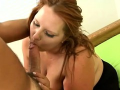 carrot-top bbw serenity gets naked on the couch for a steamy round of oral sex Hot