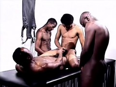 Kinky Black Studs Indulge In Hard Anal Sex And Cum Together On The Bed