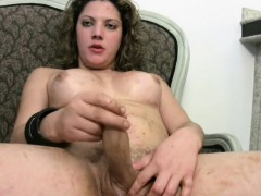chubby-tgirl-in-red-thongs-exposes-big-boobs-and-tranny-cock
