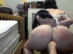 my tied slave daphne gets anal training