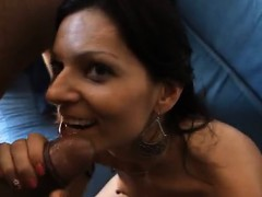 Cock hungry Brunette Milf Licking And Drawing Penis That Is