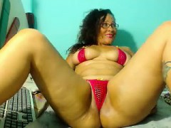curvaceous-brunette-in-a-tiny-red-bikini-fucks-her-shaved-c