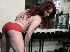 beautiful-redhead-works-out-topless