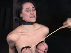 tit-bound-sub-caned-on-her-red-raw-chest