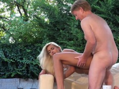 Hot Lusty Blonde Sweet Pussy Fuck With Horny Dad