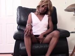 heeled-black-femboy-masturbating