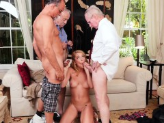Slutty Teen Cocksucks Three Older Men