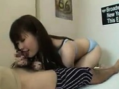 lucky-guy-has-a-gorgeous-young-babe-working-her-hot-lips-on