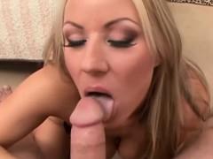 Stunning Blonde Has Her Wet Twat Slammed
