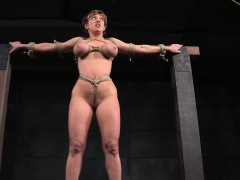 Huge-chested Sub Nymphomaniac Penalized With Electroplay
