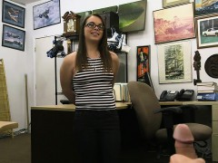 Bi-atch With Glasses Fucked By Pawn Keeper At The Pawnshop