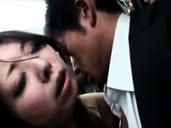 Stacked Japanese Cougar Has A Raging Stick Plowing Her Twat