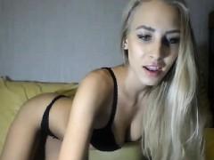Hot Babe Masturbating With A Dildo