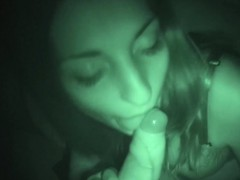 Spanish Teen Jimena Lago Sucks And Fucks In Night Vision