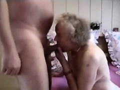 Grandmother having a good time