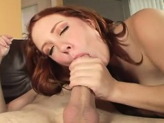 monster breasted redhead beauty is always eager to be fed a throbbing cock