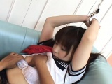 Cute Asian slut tied up and sexually treated