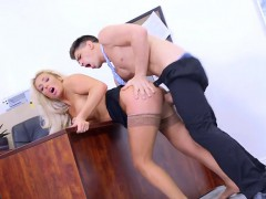 curvy boss olivia fox gets drilled by bodyguard