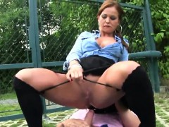 Surprised Honey In Lingerie Is Geeting Peed On And Plowed