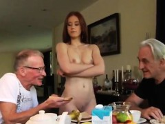 old-man-hot-babe-minnie-manga-tongues-breakfast-with-john-an