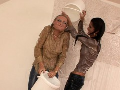 beautiful babes turn housework into wet and messy fun
