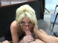 older gorgeous babe gives wild blow job