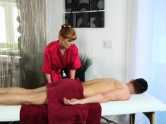 Redhead Masseuse Loves Her Client