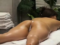 busty-hottie-strips-down-to-her-thongs-for-a-relaxing-massa