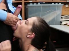Skinny Teen Shoplifter Bobbi Punished By Big Dong