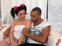 man assists with hymen check-up and shagging of virgin teeni