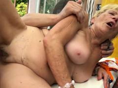 chubby grandmas hairypussy nailed outdoors