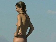 hot nude teen was easily spied by the beach voyeur hunter WWW.ONSEXO.COM