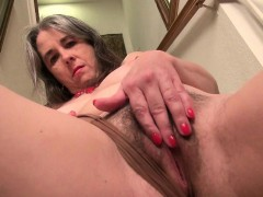american milf eva griffin fingers her nyloned wet muffin