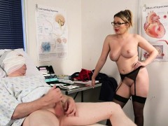nurse domina watches jerk