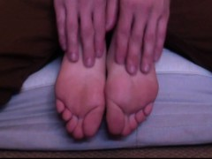 21-year Old Christais Sweet Feet Tickled