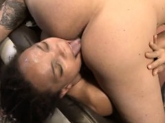 black ashley luvbug hair held durin real rough face fuckin