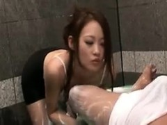 Enchanting Japanese babe with perfect big tits delivers a h
