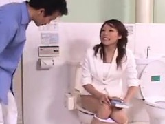 they-meet-in-a-bathroom-display-and-she-wrongly-pees-in-the
