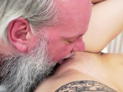 awesome brunette woman loves banging with her old lover
