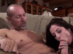 husband watches wife take huge penis