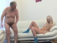 Enchanting Young Honey Gives Passionate Ride To An Old Guy