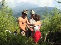 german bitch loves extreme mountain sex