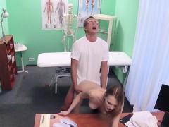 Doctor Shoves Big Cock Into Blonde Patient