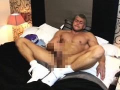 cocky-capped-hunk-wanking-in-nikes