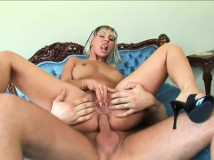 Hot Blonde Housewife Has Her Muff Pounded