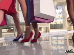 Flawless Czech Nympho Is Teased In The Shopping Centre And N
