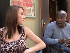 Cuckold Licks Pussy As His Wife Fucks A Black Stud