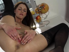 Naughty Czech Nympho Opens Up Her Spread Muff To The Strange