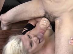 Pool Boy Get Cock Sucked By Horny Blonde Granny